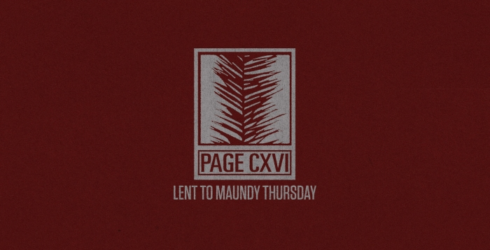 Lent To Maundy Thursday Cover